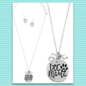 Dog Mama Jewelry Necklace & Earrings Mom NWT NEW